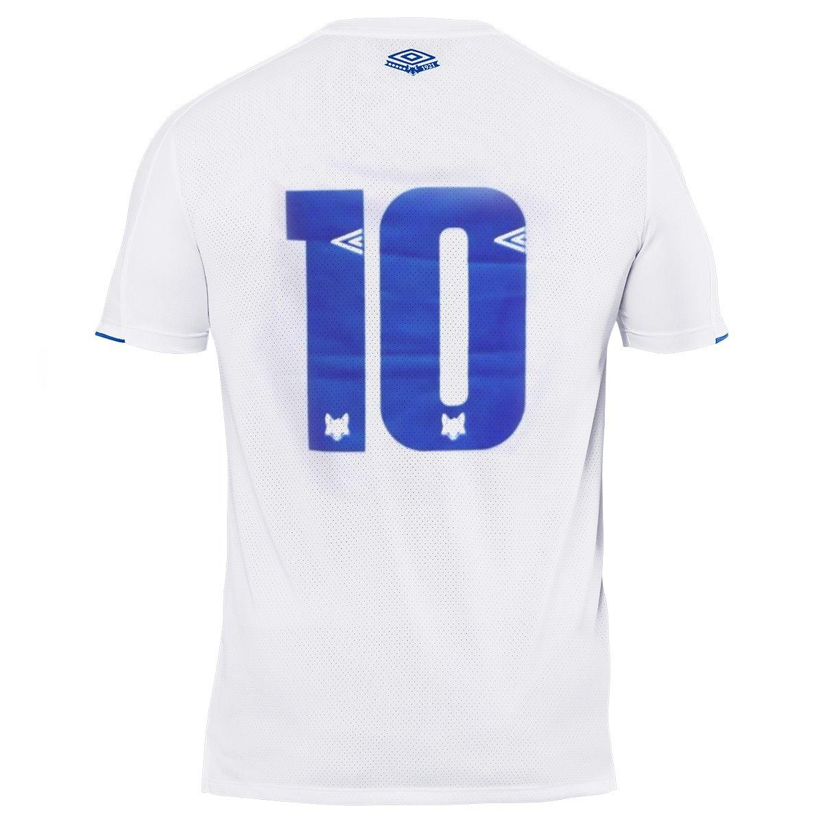 56bfbfe44f6b8 Camisa Cruzeiro 2019 II Nº 10 Umbro Classic Masculina - Branca ...