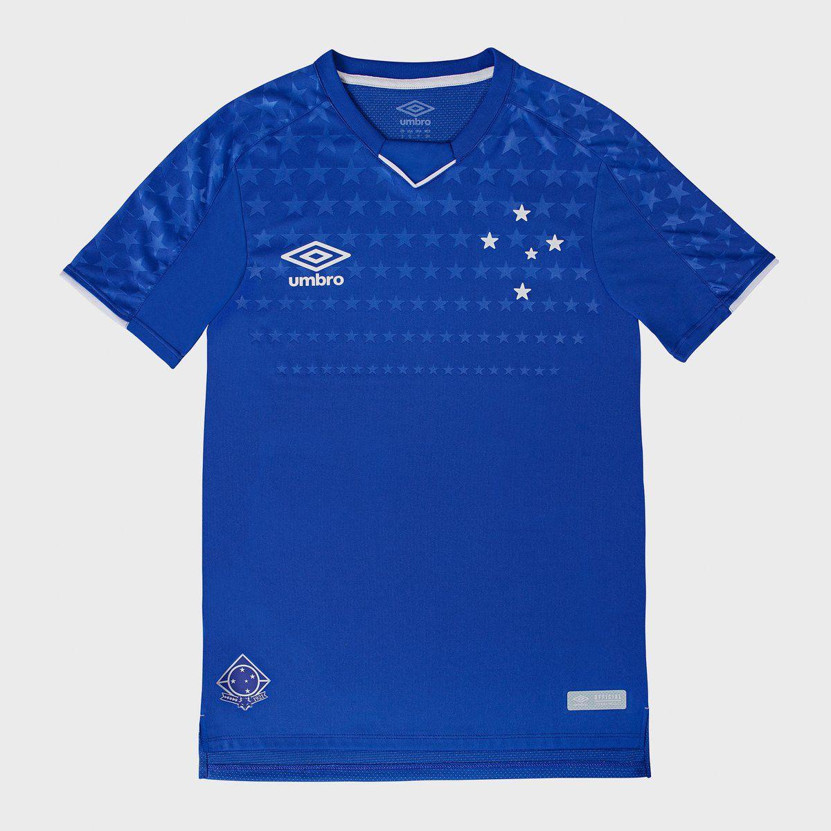 47d8cc279 Camisa Cruzeiro 2019 I S N Umbro Classic Feminina - Azul - Camarote ...