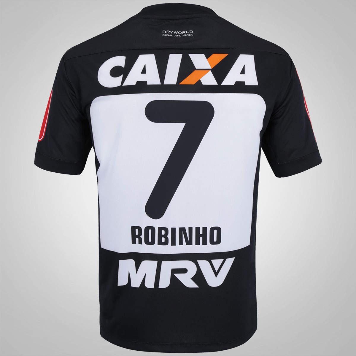 45498f8d7 ... MasculinasCamisa Atlético Mineiro I 2016 nº 7 – Dryworld oficial  Robinho. 🔍. 1  2