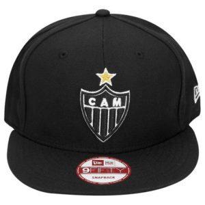 Boné do Atlético New Snap preto escudo aba reta 0c01308fe82