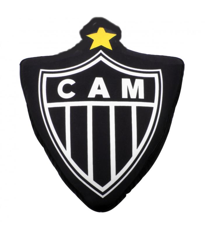 Almofada Do Atletico Mineiro Escudo Em Veludo E Bordado Camarote Do Torcedor