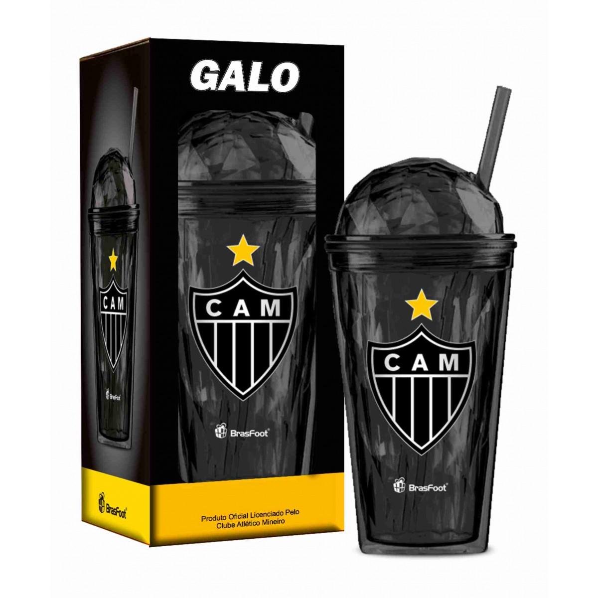 Copo globo 450ml com canudo do Atlético - Camarote do Torcedor 85be297ee8ab2