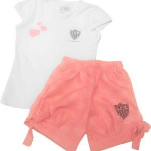 35733152a4 Kit Torcida Baby Menina blusa e short – Atlético Infantil