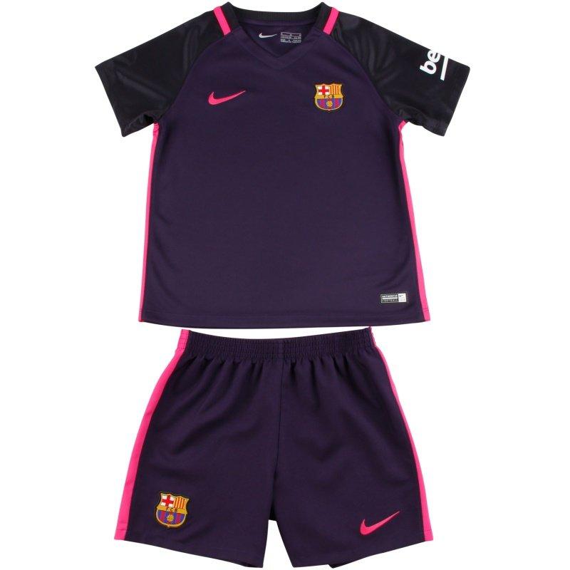 a4088769e1224 Conjunto Uniforme Infantil Barcelona 2º uniforme - Camarote do Torcedor