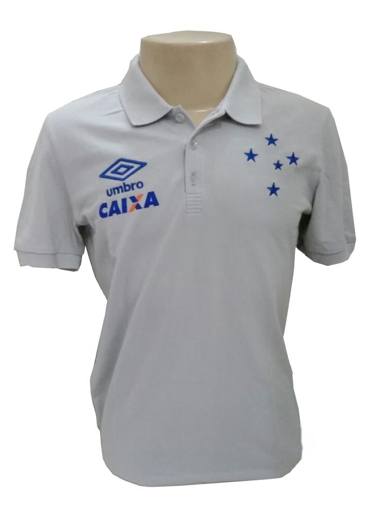 Camisa Cruzeiro 2016 Viagem - Cinza Oficial Umbro - Camarote do Torcedor 2df7cee10482c