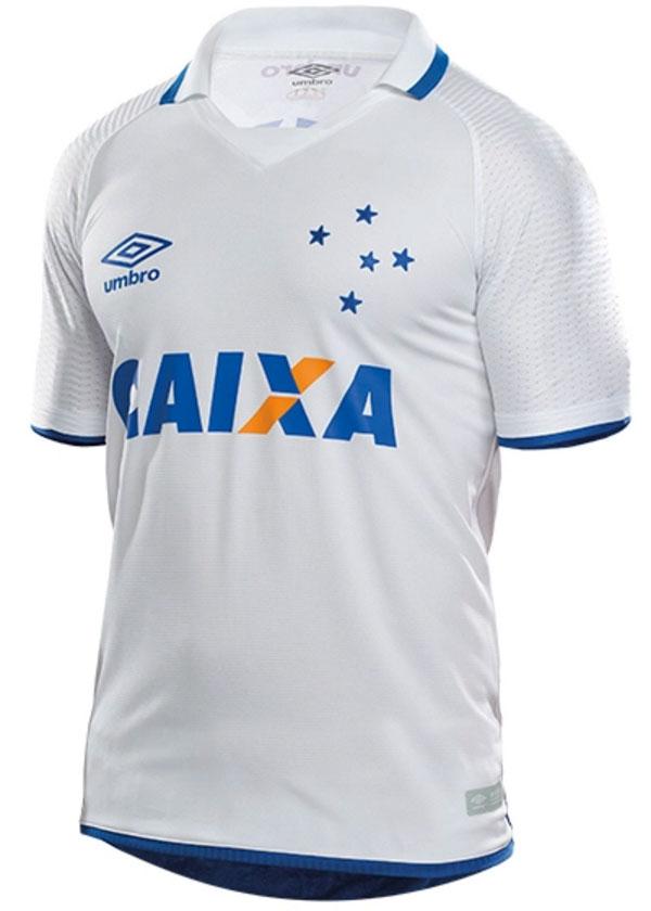 ... MasculinasCamisa Cruzeiro 2017 II Masculina – Umbro S Nº Fan Branca.  🔍. 1  2 fd50feeed7655