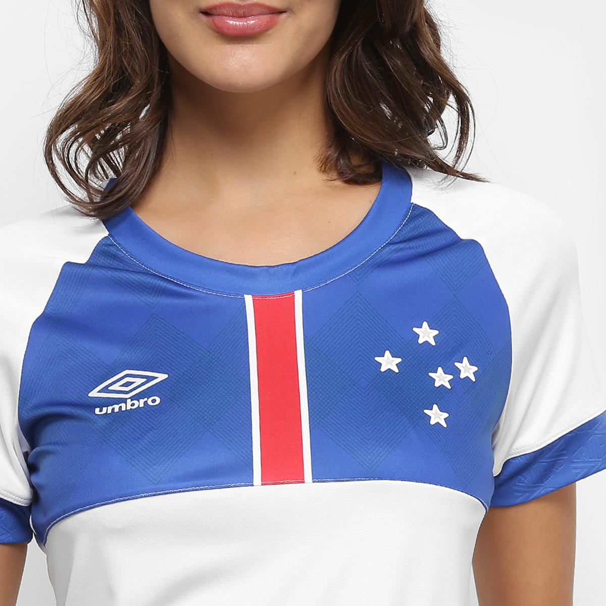 InícioLojaCruzeiroCamisas FemininasCamisa Cruzeiro 2018 II s n° Blár  Vikingur – Torcedor Umbro Feminina – Branco e Azul. 🔍. 1  2 b64249889e928