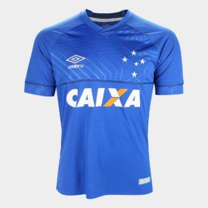 Camisa Cruzeiro 2018 I S Nº Torcedor Umbro Masculina – Azul com patrocínio f6f6eda9fa2