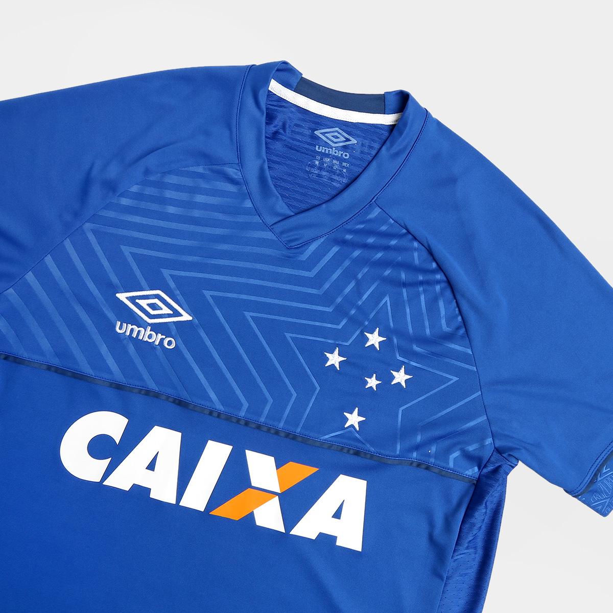 Camisa Cruzeiro 2018 I S Nº Torcedor Umbro Masculina - Azul com ... c242724360853