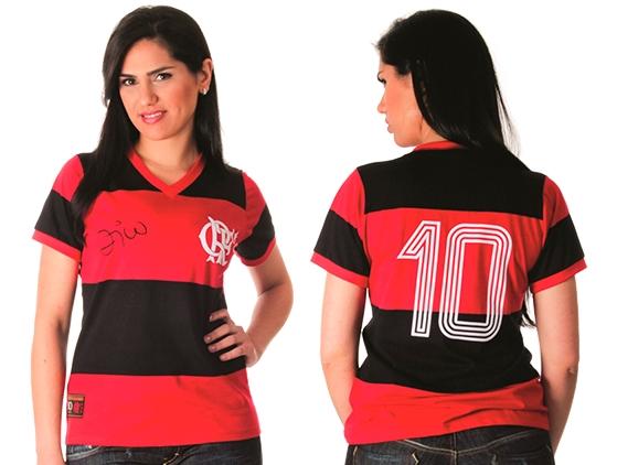 bc53e418bc Camisa retrô Zico Flamengo Feminina – Libertadores 81 Algodão ...