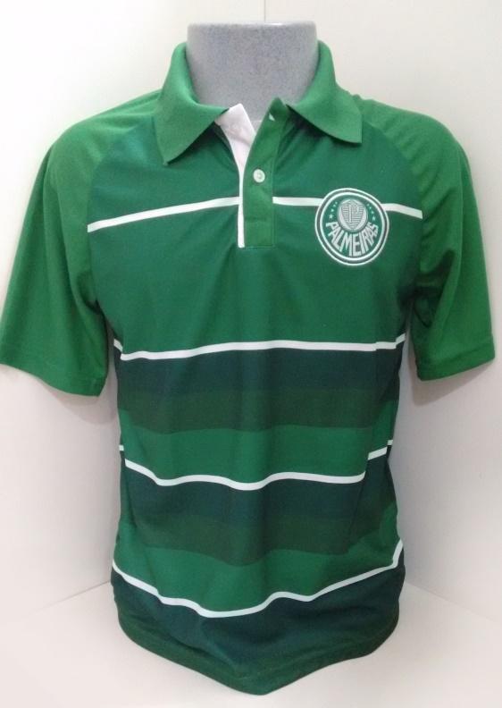 75cd8de341 Camisa Polo Team masculina Palmeiras listrada - Camarote do Torcedor