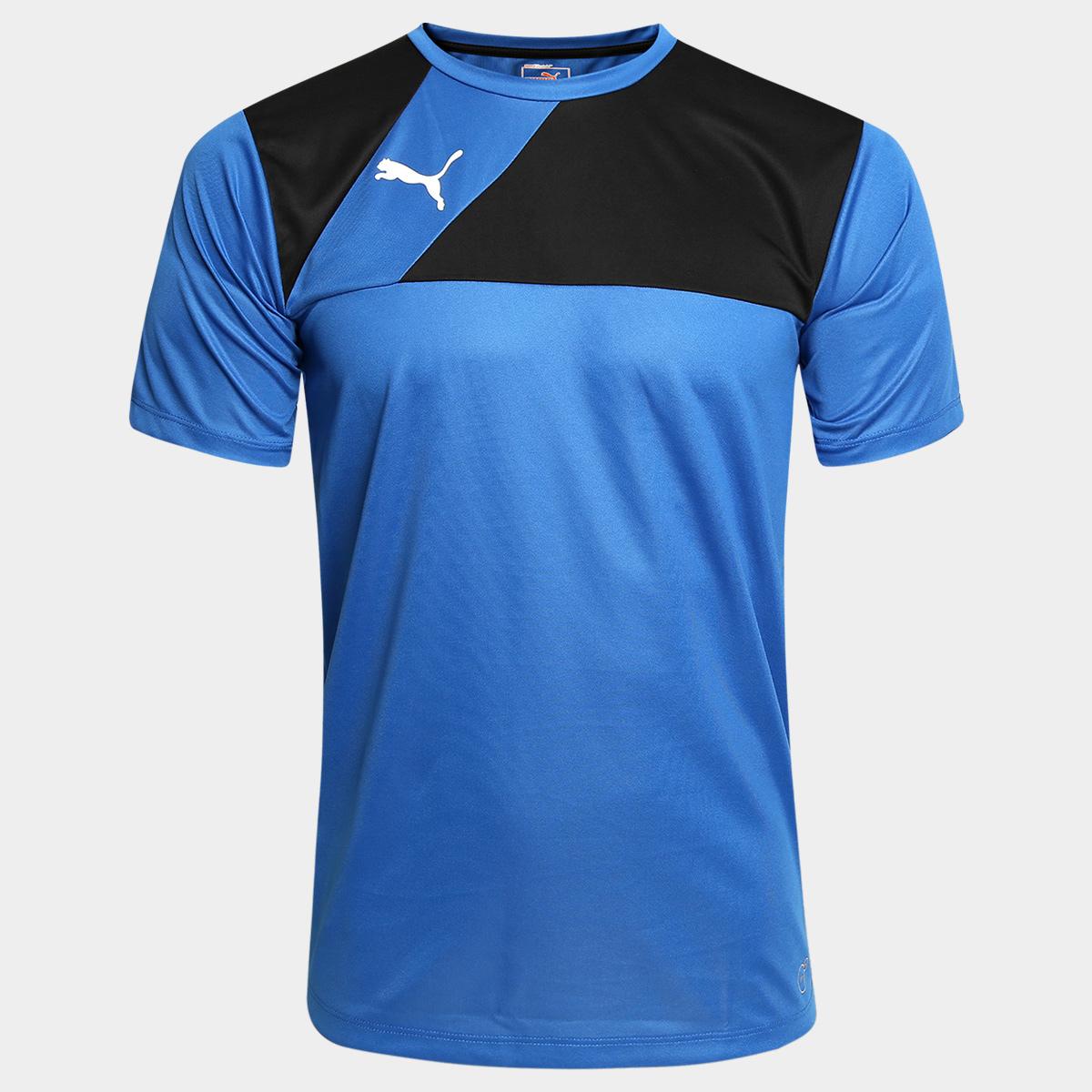 91b69a80d Camisa Puma BR Entry Training Jersey Masculina - Azul e Preto ...