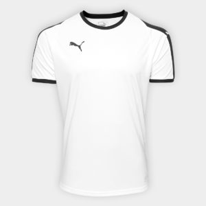 84aa92d7c91d0 Camisa Puma Liga Jersey Masculina – Branco e Preto
