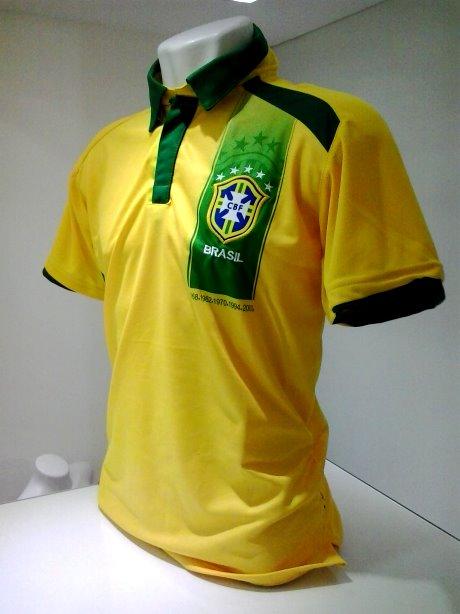 95792e0c6b Camisa Polo Masculina Brasil Baresi - Camarote do Torcedor