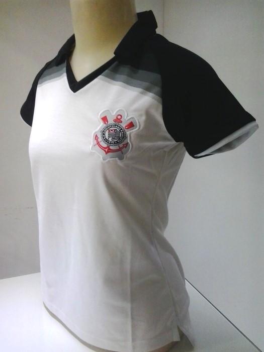 7f6df45220c00 Camisa Polo feminina Corinthians - Camarote do Torcedor