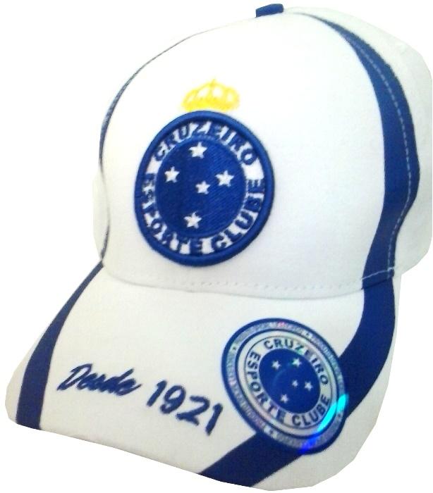 Boné Branco do Cruzeiro - Oficial - Camarote do Torcedor 64a0d7c677710