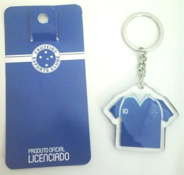 Chaveiro do Cruzeiro - Camisa de plástico - Camarote do Torcedor be8b411837a4b