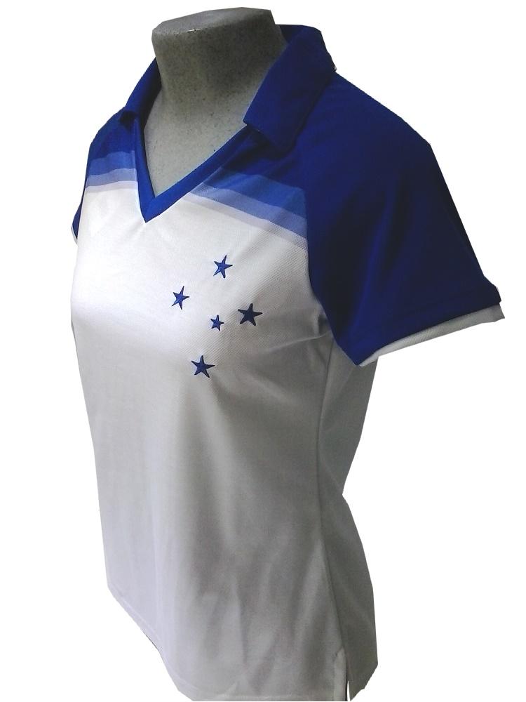91e707e921 Camisa Polo Team feminina Cruzeiro - Camarote do Torcedor