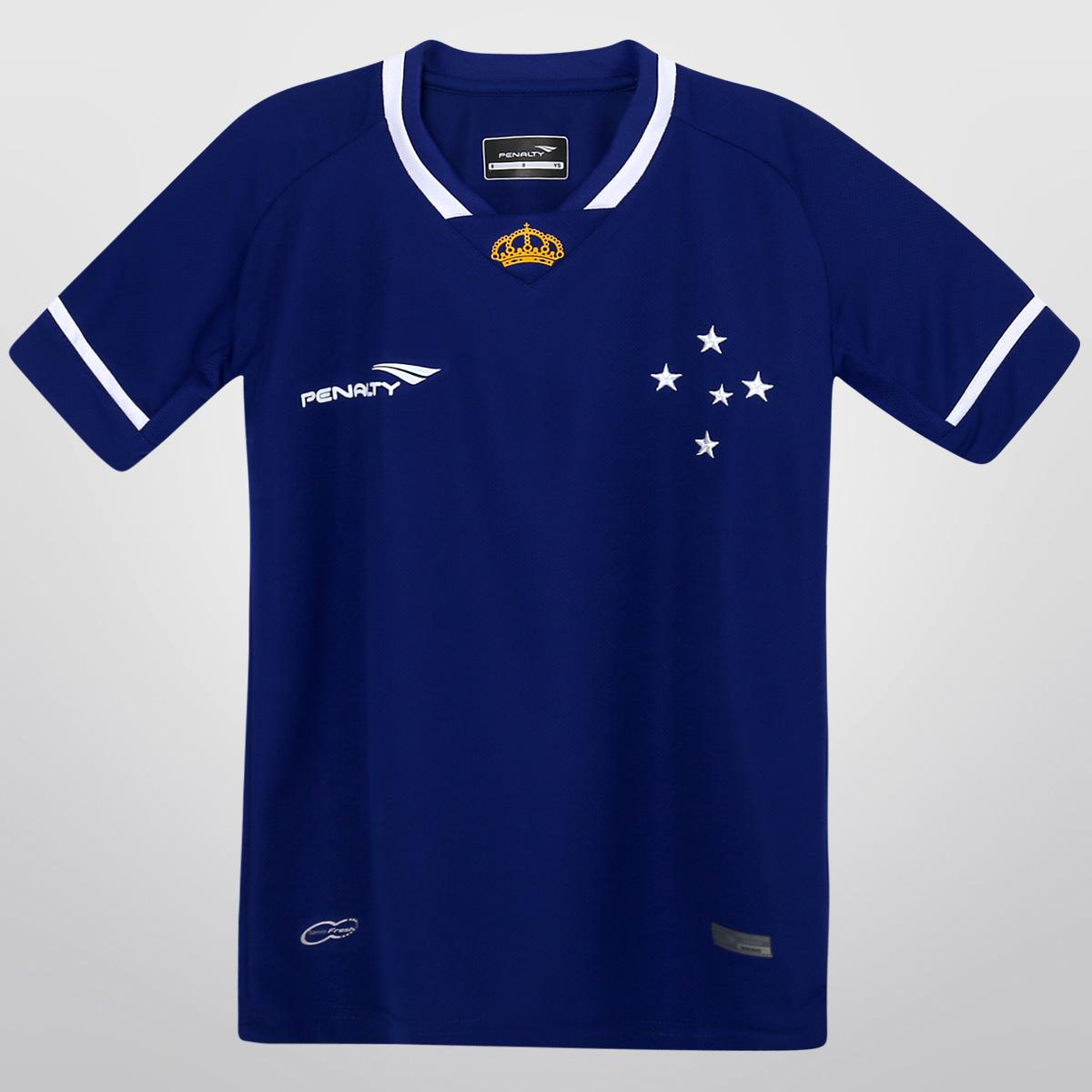 Camisa Juvenil Cruzeiro 2015 Azul - Oficial Penalty - Camarote do ... 3e5f26750a176