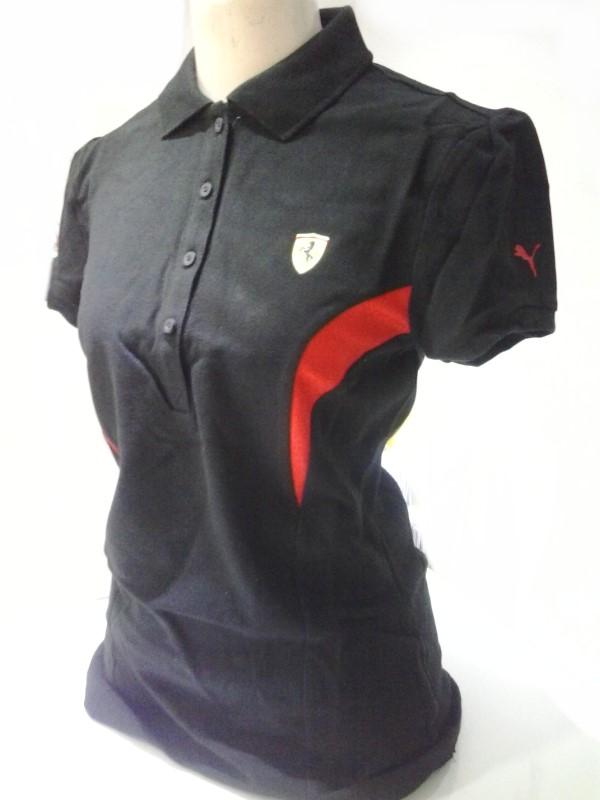 be704ce1cd Camisa Polo Puma Scuderia Ferrari Preta - Feminina - Camarote do ...