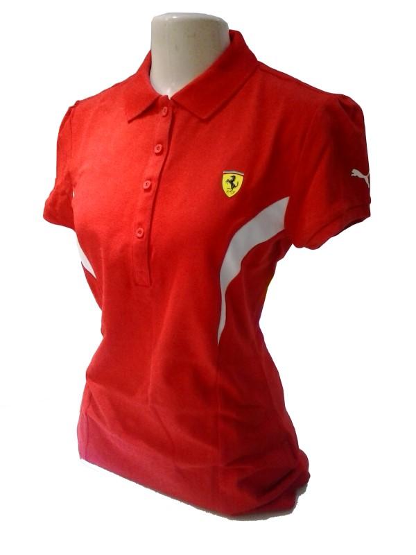 774683e52d Camisa Polo Puma Scuderia Ferrari Vermelha - Feminina - Camarote do ...