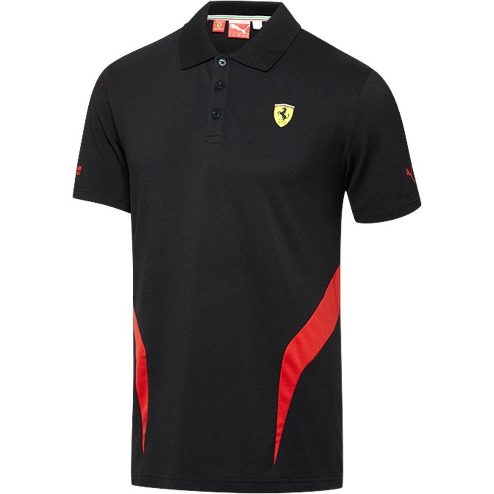 d88c40228a Camisa Polo Puma Scuderia Ferrari Preta - Camarote do Torcedor