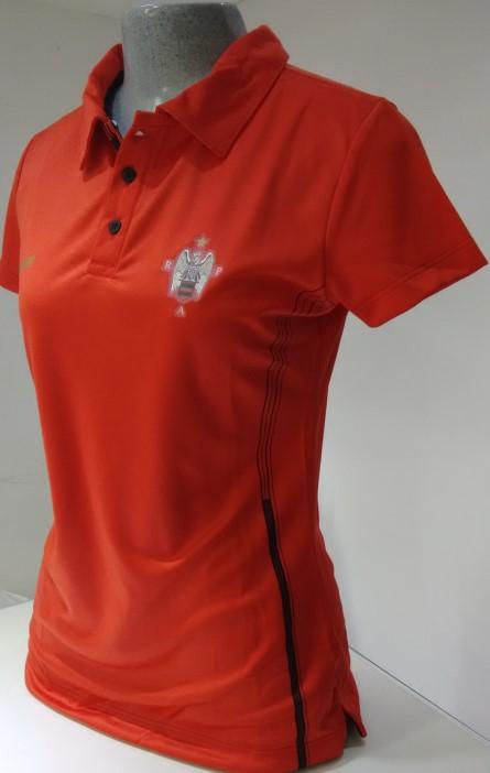 0e6eec1ee21ec Camisa passeio polo feminina vermelha Flamengo - Camarote do Torcedor